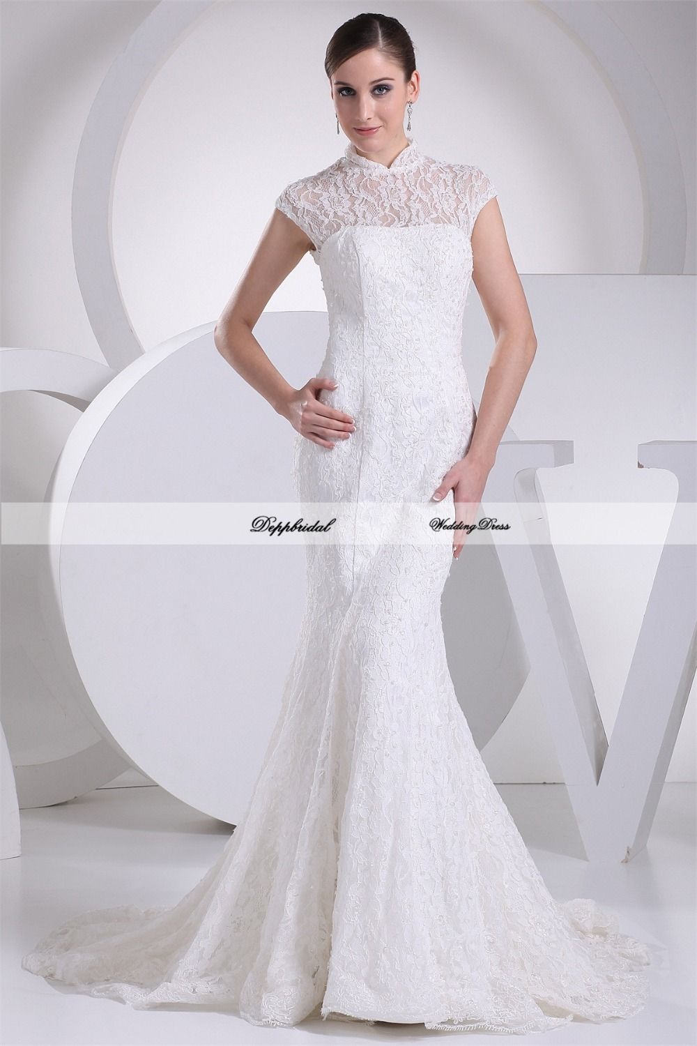strapless ball gown with organza ruffle skirt ai p wedding dress no train Tea Length Dotted Organza Wedding Gown WG