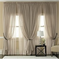 Multicolor sheer tulle curtains Cheap Custom window ...