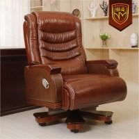 Niumai luxury boss chair reclining high back leather chair ...
