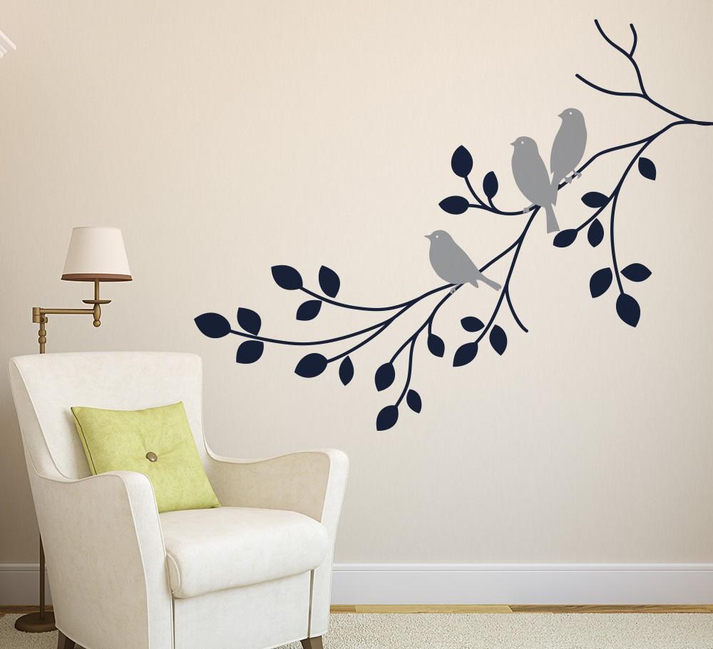buy birds branch wall art sticker vinyl wall decals wall pics photos decal vinyl wall decals