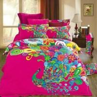 Unique Design Colorful Peacock Print Bedding Set Queen ...