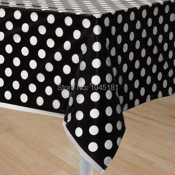 Disposable Plastic Polka Dot Tablecloth Kids Birthday