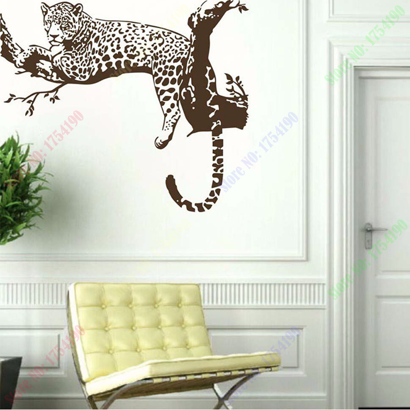 sale large leopard tiger tree removable vinyl wall sticker home sale wall sticker commercial window wall stickers christmas