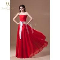 Summer Style Bridesmaid Dresses Red Sweetheart Floor ...