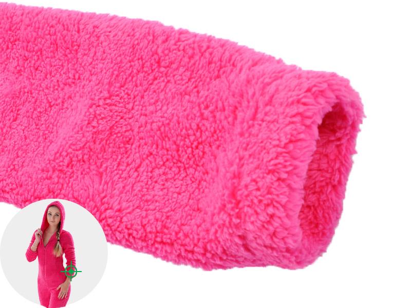 JUICE MATE Plus Size Fluffy Fleece Onesie Pink Hot Pink ...