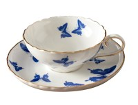 Jsaron Porcelain Blue Butterfly Tea Coffee Cup with Spoon ...