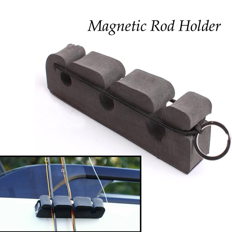 Portable Gray Soft Foma Fly Fishing Rod Magnetic Holder