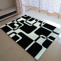 Classical Black and white carpet Manual Acrylic Living