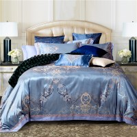 Luxury jacquard cotton/silk BEDDING bedding set /duvet ...
