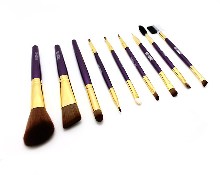 Free Shipping Professional 9 Pcs Makeup Brush Set Tools
