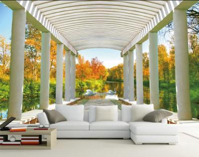 Custom mural papel de parede,Space expansion 3D landscape painting wallpaper,living room TV sofa ...