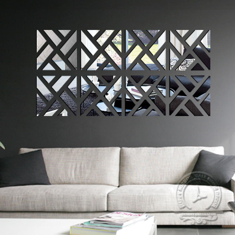 mirror wall stickers living room decorative sticker wall home decor wall mirror stickers tonka design digsdigs