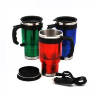New 500ml Electric Stainless Steel Travel Car Coffee Tea ...