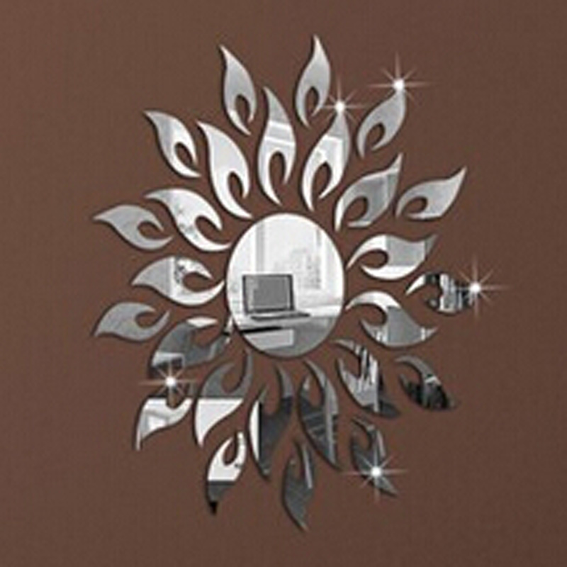 surface wall stickers diy modern decoration wall decals sunflower fire shopping online wall stickers happy ecommerce