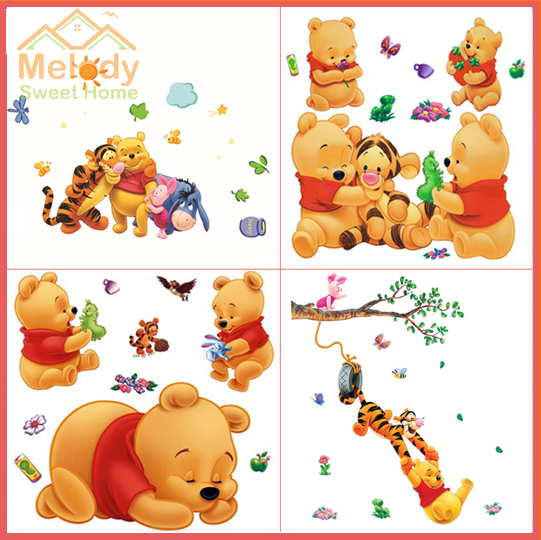 winnie pooh cartoon baby wall decals nursery wall sticker home winnie pooh tigger nursery wall sticker