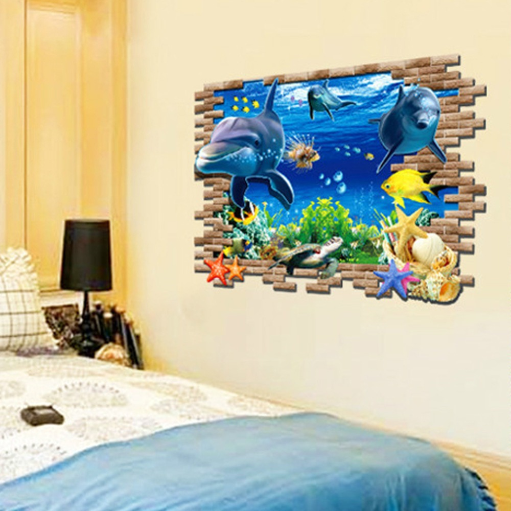 fish wall stickers kids rooms home decor sticker diy home home sweet home wall sticker decals
