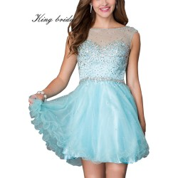 Ritzy 2016 Round Beading Crystal Short Prom Cocktail Dresses Mint Black Mini Party Gowns Cheap Cheap Cocktail Dresses Jacket Cheap Cocktail Dresses At Gabes