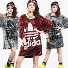 Vestidos de hip hop largos Adidas