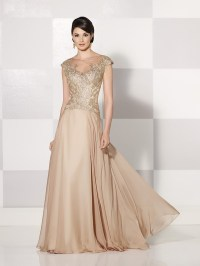 2015 Mother Of The Bride Dresses A line High Collar Floor ...