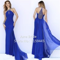 royal blue prom dresses 2015 2015 royal blue chiffon ...