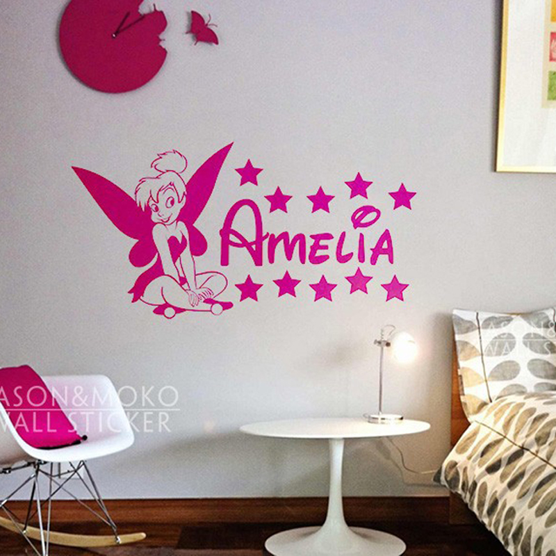 girl kids personalised customized bedroom nursery wall sticker custom wall stickers wall art quotes designs gemma duffy