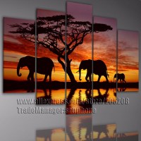 african canvas wall art 3 piece african wall art ...