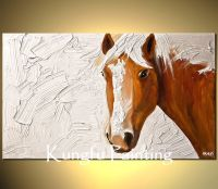 Abstract Horse Painting On Canvas