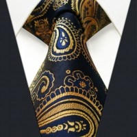 U10 Paisley Gold Blue Navy Mens Tie Neckties Extra Long ...