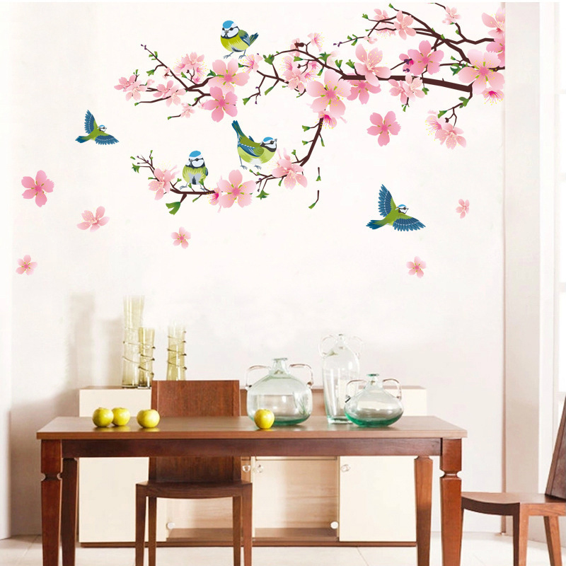 sakura flower bedroom room vinyl decal art diy home decor wall sticker bedroom wall art family member bedroom wall stickers