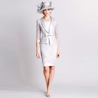 Mother Of The Bride Dresses With Jackets Knee Length ...