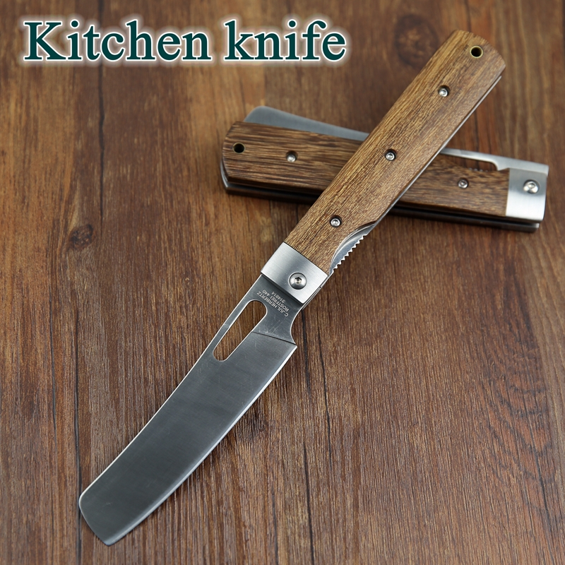 pocket folding kitchen chef knife table knife high quality dark matelic image quality kitchen knives