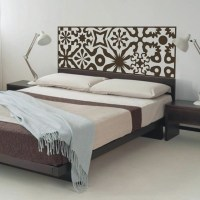 Quilted Headboard Wall Decal Vinyl Art Wall Sticker Bed ...