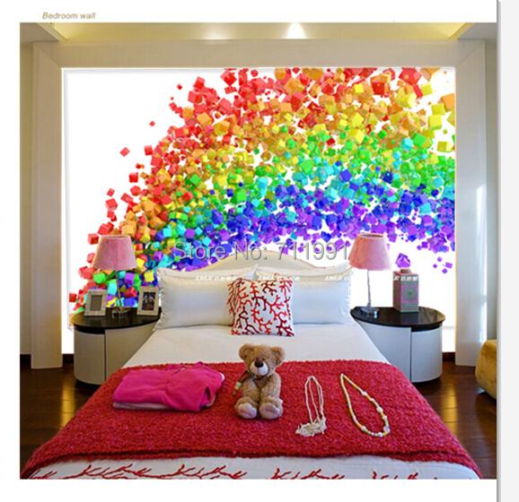 Girls Pink Bedroom Wallpaper Download Rainbow Wallpaper For Walls Gallery