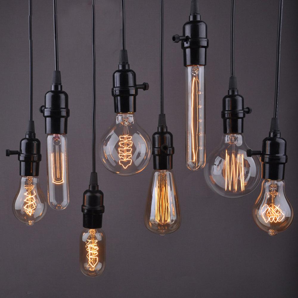 1PC Pendant Wire Personality Edison Lamp Bar Counter Aisle Lights Pendant Lamps Coffee Shop Hotel Kitchen