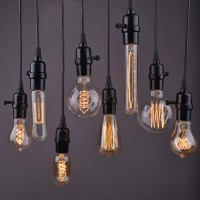 1PC Pendant Wire Personality Edison Lamp Bar Counter Aisle ...