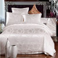 white jacquard home textile bedding set luxury 4pcs ...