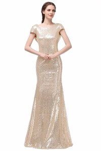 Champagne Gold Sequin Bridesmaid Dresses 2016 Hot Long ...