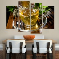 Canvas Art Kitchen Canvas Painting Large Wall tea poster ...