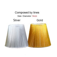 White Pleated Clip On Chandelier and Wall Sconce Lamp ...