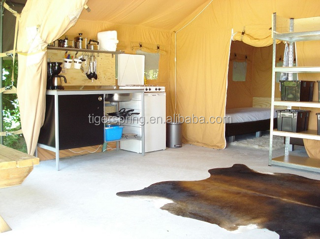Luxury canvas living camping tent living tent living room