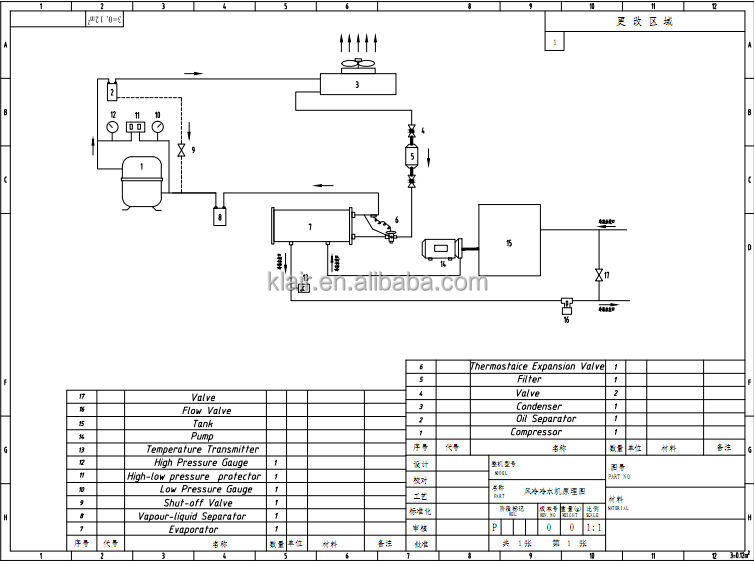 water chiller schematic diagram