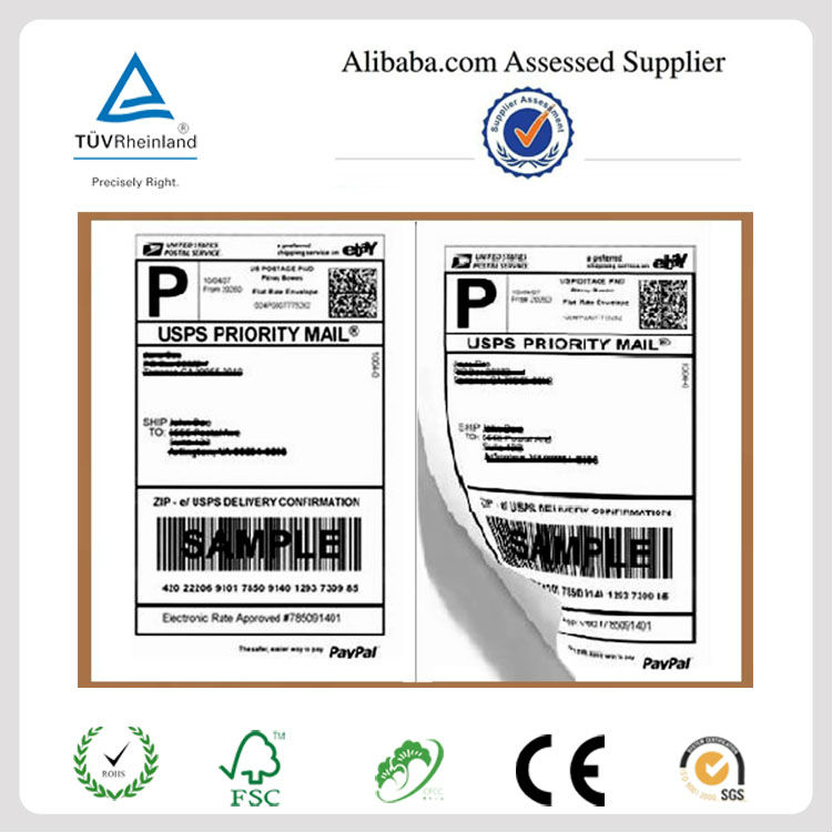 A4 Dimension Custom Laser Shipping Label Printing For Paypal,Usps