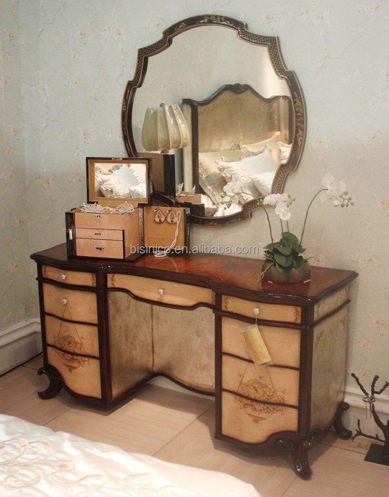 Vintage lacquer wooden dressing table antique retro