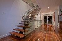 Interior decorative glass wood prefabricated stairs, View ...