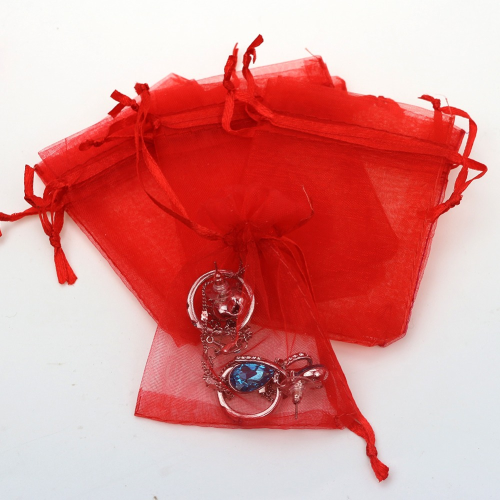 Wholesale 7x9cm Small Bulk Fabric Organza Gift Bags