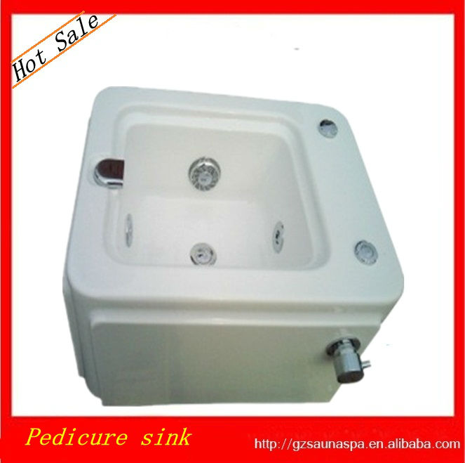 Hot Sale Acrylic Pedicure Sink With Jets Bath Basin View