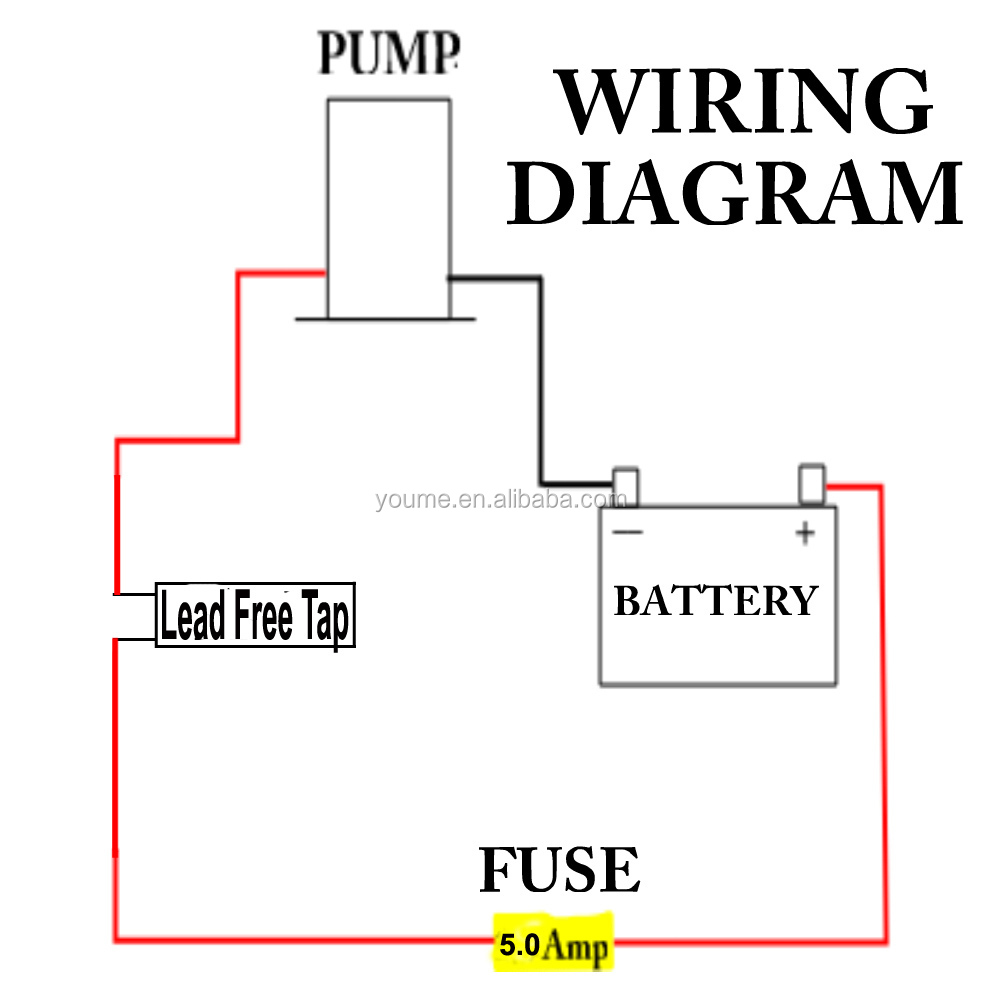 wiring diagram for 12v water pump