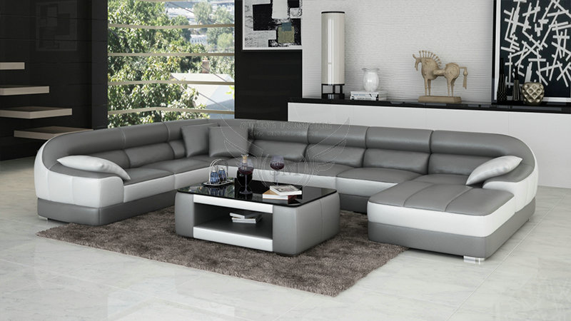 Design Ecksofa Fashionable Round Shape Modern New Design Corner Sofa