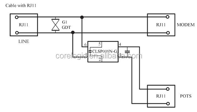 adsl splitter circuit diagram