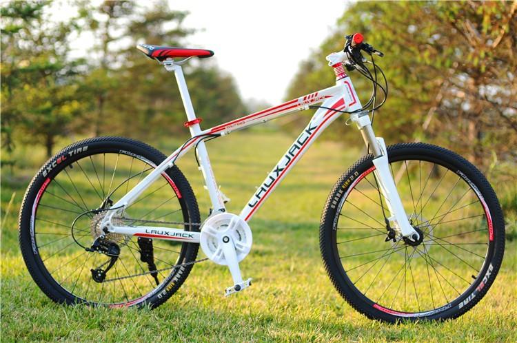 Laux Jack 26inch white mountain bike Hydraulic dual disc brake 27speed alloy bicycle frame alloy ...